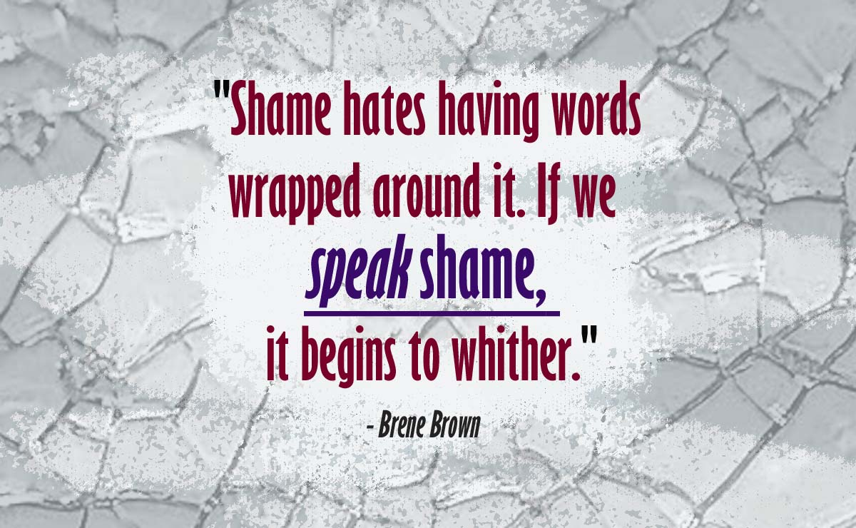 Shame quote copy